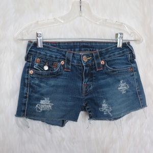 💖 True Religion Upcycled Distressed Shorts 💖